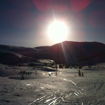 Solnedgang over Gunulvsbu