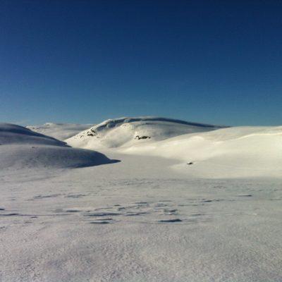 Blefjell, på Storvann mot Brørsteinane